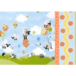 Susybee Sheep Single Border Pillowcase Kit