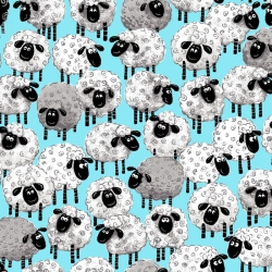 Susybee Sheep on Aqua