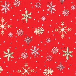 Lewe Snowflakes on Red