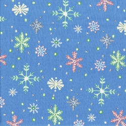 Lewe Snowflakes on Blue