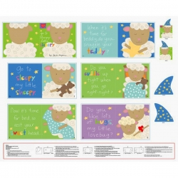 Huggable & Loveable Go To Sleepy Little Sheepy Book Panel