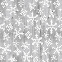 Snow Place Like Home Snowflakes on Gray