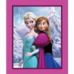 Frozen Sisters Snowy Scenic Panel