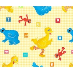 Sesame Street Toss on Yellow Check