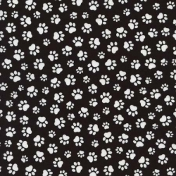 Too Cute Cats and Dogs Paw Prints Black and White