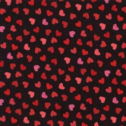 Lovestruck Mini Hearts on Black