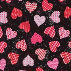 Lovestruck Sparkly Hearts Black