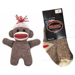 Monkey Socks Brown Mini TWO Pair Pack