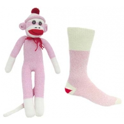 Monkey Socks Pink Medium ONE Pair