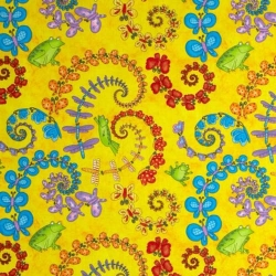 Froggy Fun Butterfly Swirl Yellow