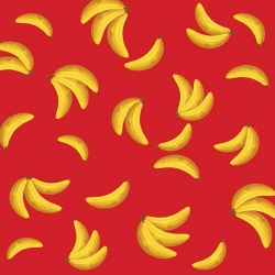 Socky Bananas on Red